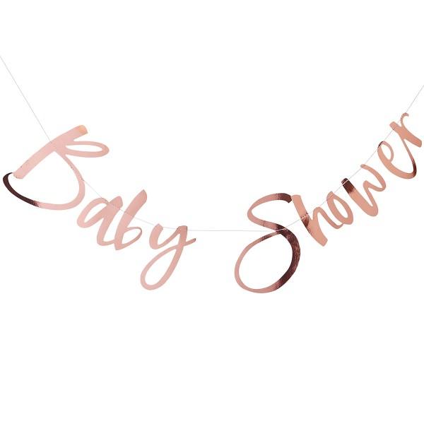 Baby Shower Girlande roségold 1,5 m