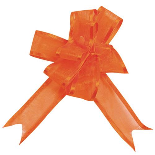 Organzaschleife / Automatikschleife 'Mini' (5 Stück) - orange