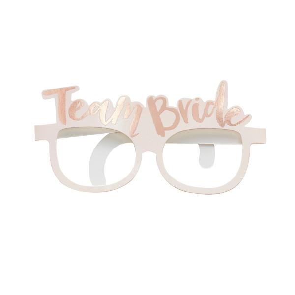 Team Bride Brillen (8 Stück) - rosa & roségold