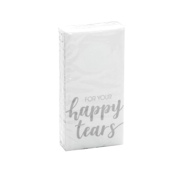 Taschentücher For Your Happy Tears silber 10 Stück