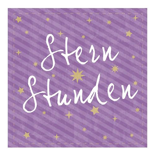 Servietten 'Sternstunden' (20 Stück) - lila