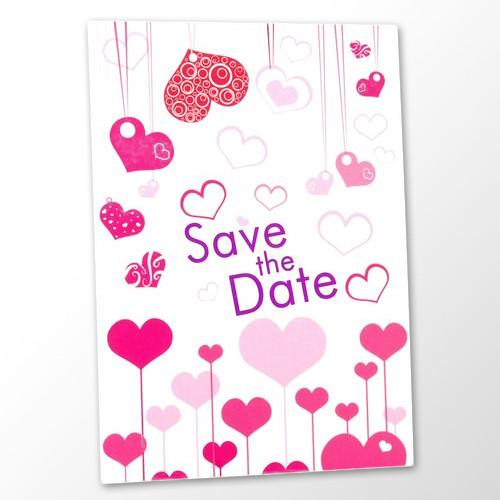 Save the Date Karte Hochzeit - Herzen