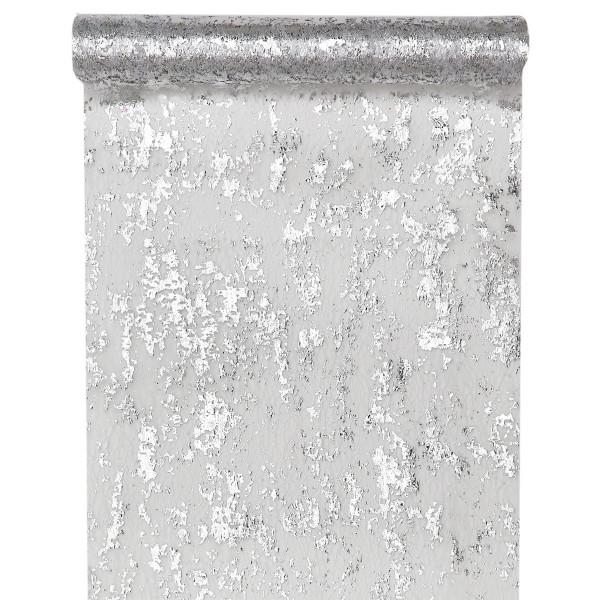 Tischläufer Fantasie silber 28 cm x 5 m