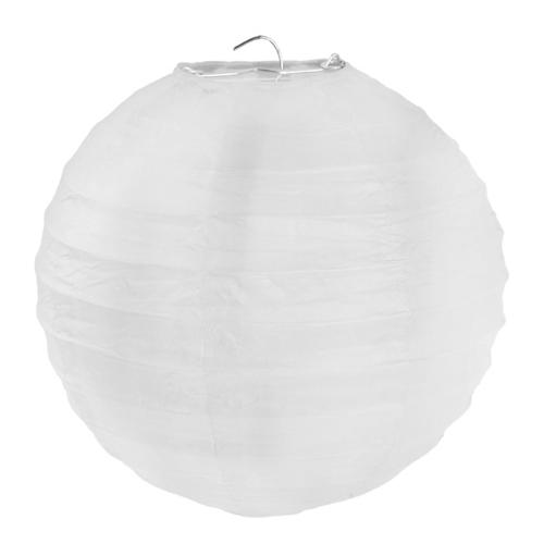 Laterne / Lampion rund 30 cm - weiß (2 Stück)