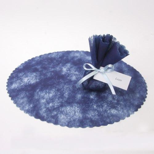 Vlieskreise (100 Stück) - blau
