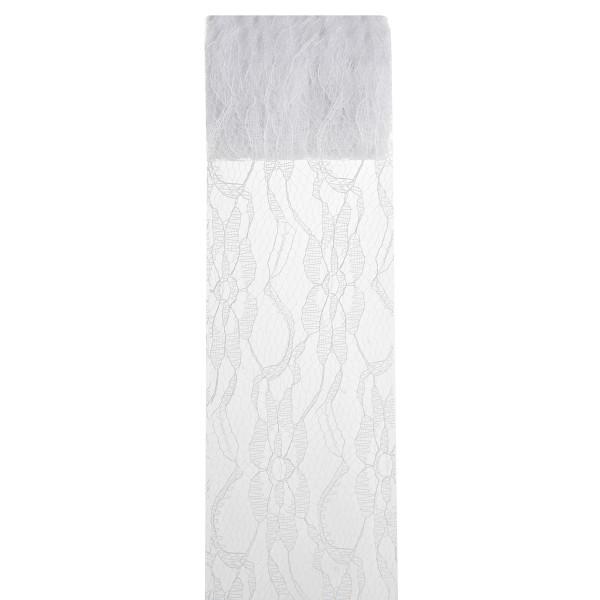 Dekoband 'Spitze', 70 mm x 5 m - weiß