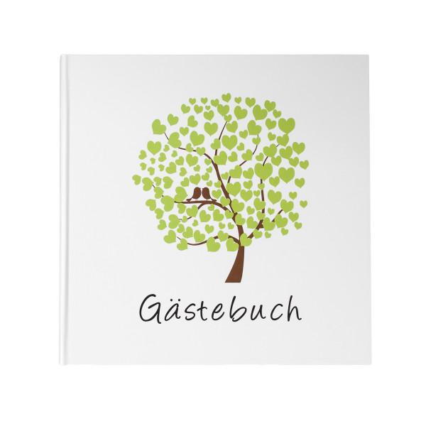 Gästebuch 'Bird Tree' weiß