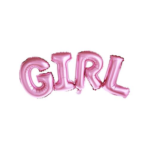Folienballon 'Girl' Mädchen 74 cm - rosa