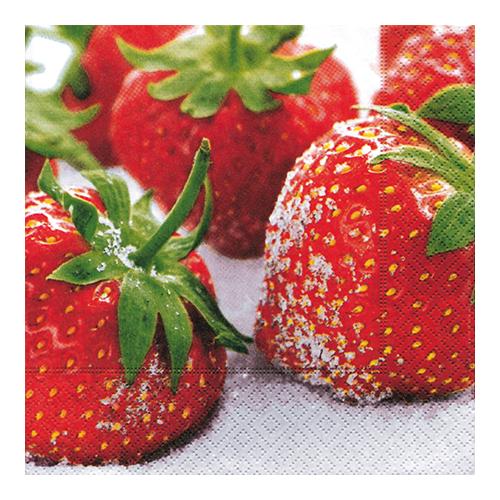 Servietten Erdbeeren (20 Stück)