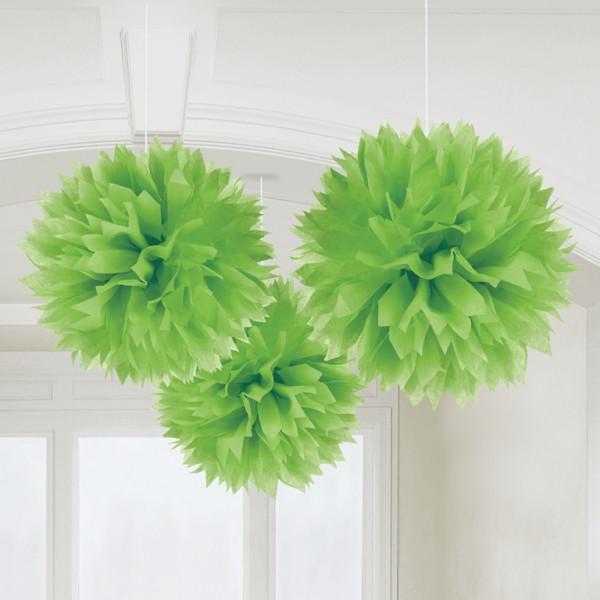 Pompoms 40 cm (3 Stück) - hellgrün