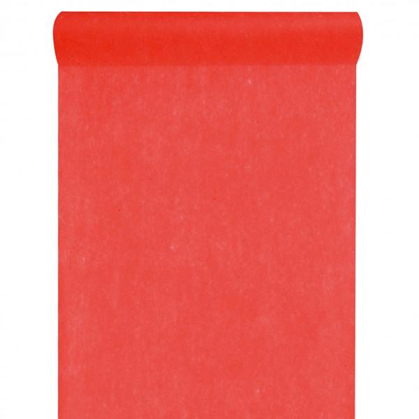 Tischläufer Vlies 30 cm x 10 m - rot
