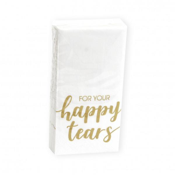 Taschentücher For Your Happy Tears gold 10 Stück