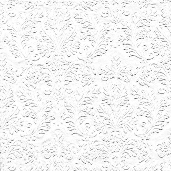 Servietten Ornament geprägt (16 Stück) - weiß