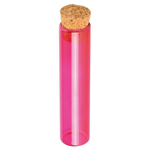 Reagenzglas / Glasröhrchen, pink H 10 cm