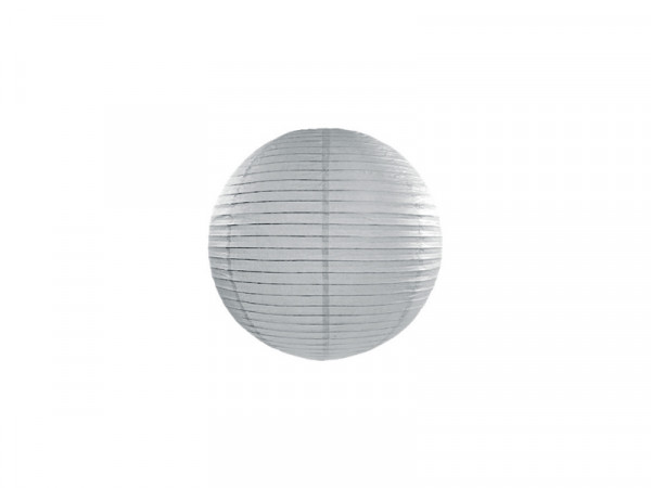 Laterne / Lampion rund 20 cm grau