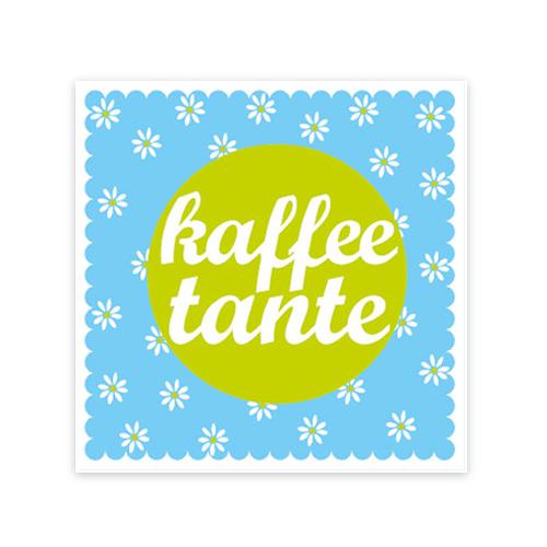 Cocktailservietten Kaffeetante (20 Stück) - türkis & hellgrün