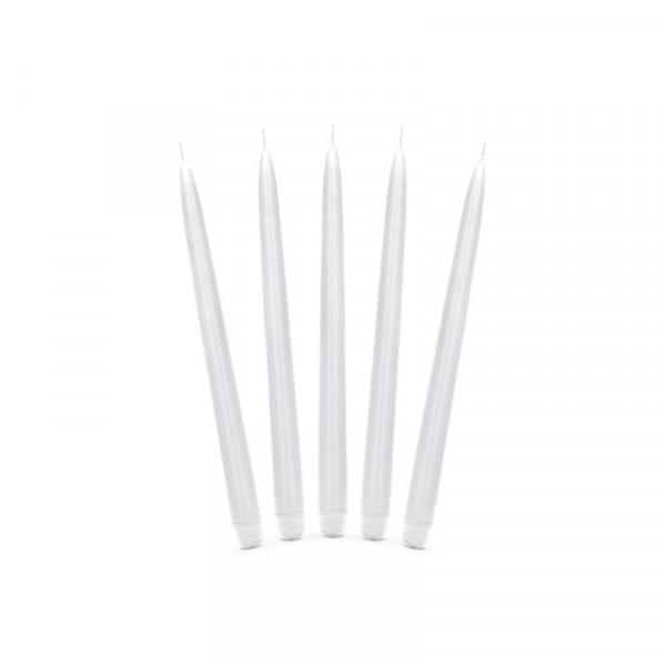 Spitzkerzen (10 Stück) - weiß