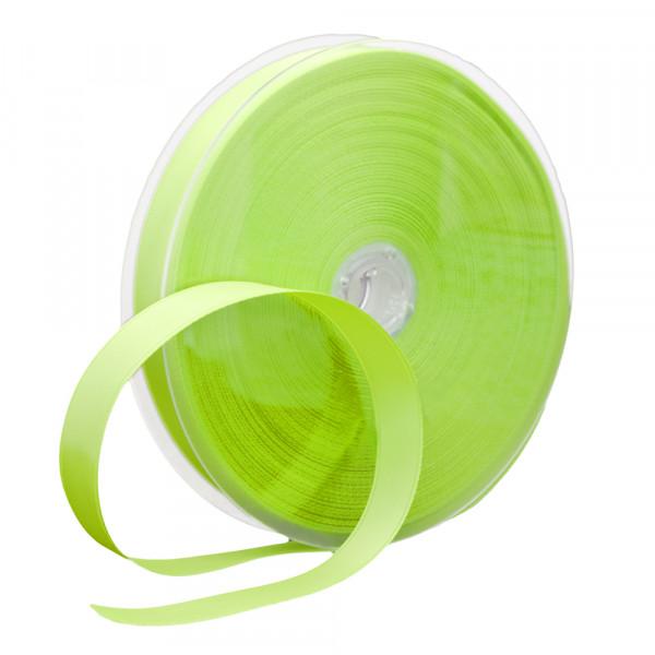 Satinband 16 mm x 45 m - hellgrün / limette