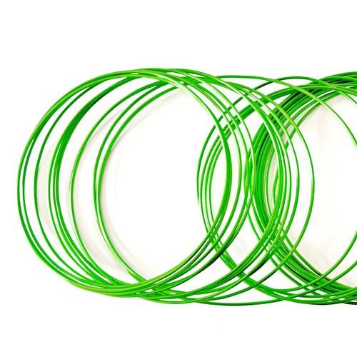 Basteldraht / Dekodraht 2 mm rund 12 m - Hellgrün