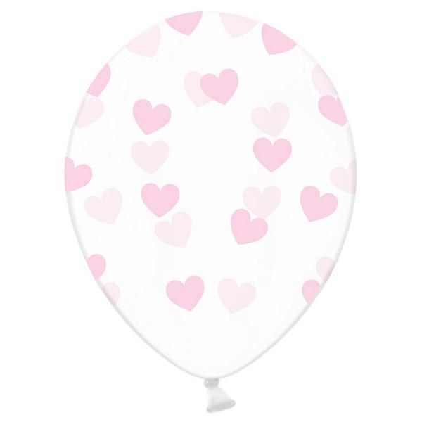 Luftballons Herzen (6 Stück) - rosa