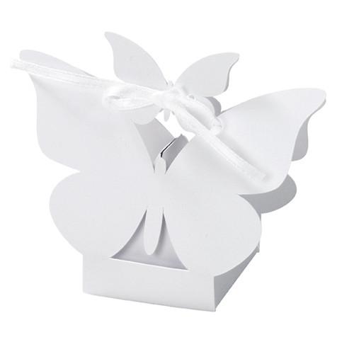 Kartonage 'Schmetterling' (10 Stück) - weiß