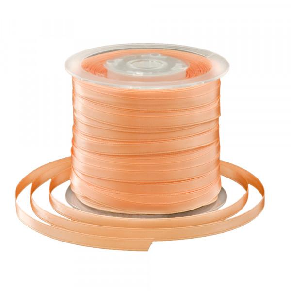 Satinband 6 mm x 91 m - apricot
