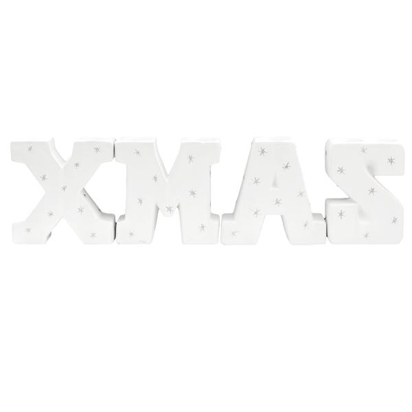 Teelichthalter 'Xmas' H15,5cm Keramik - weiß