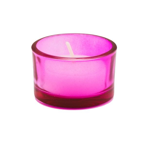 Teelicht / Kerzenhalter (6 Stück) - pink