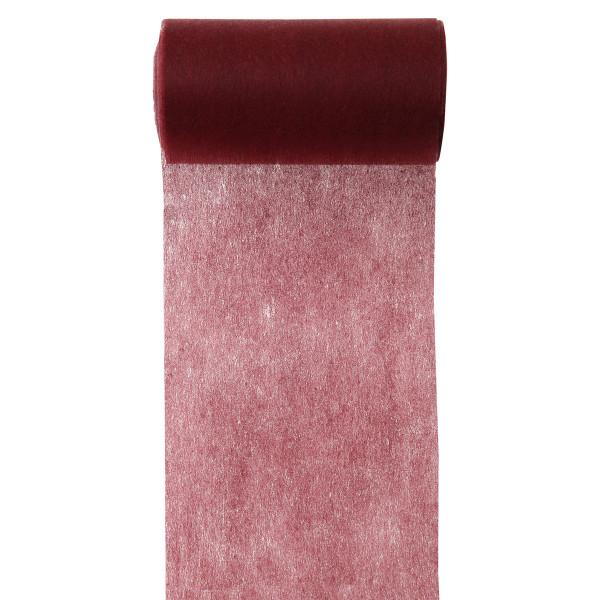 Servietten- / Tischband 10 cm x 10 m - bordeaux