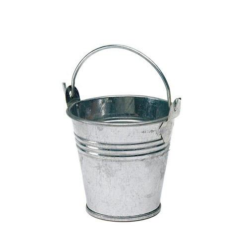 Mini-Eimer (12 Stück) - silber
