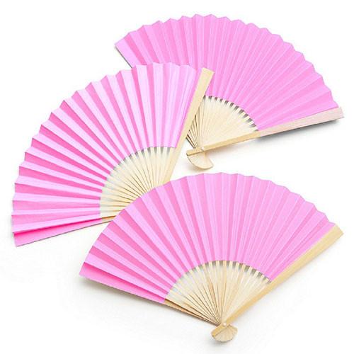 Fächer (1 Stück) - rosa