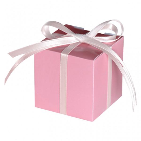 Geschenkbox / Kartonage (100 Stück) - rosa