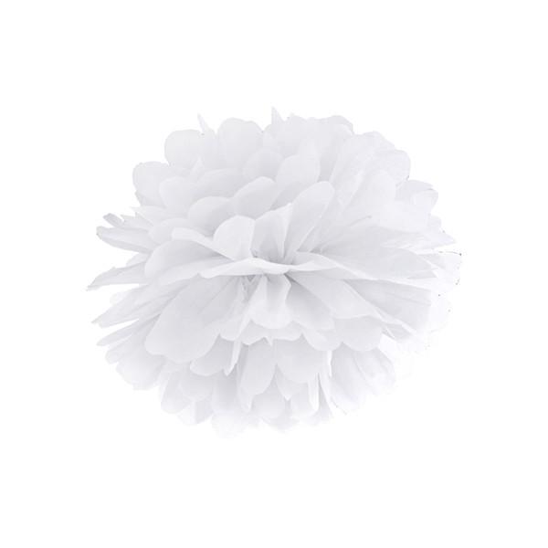 Pompom 25 cm weiß