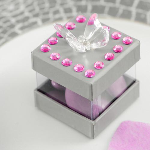 Strasssteine, selbstklebend (160 Stück) - pink