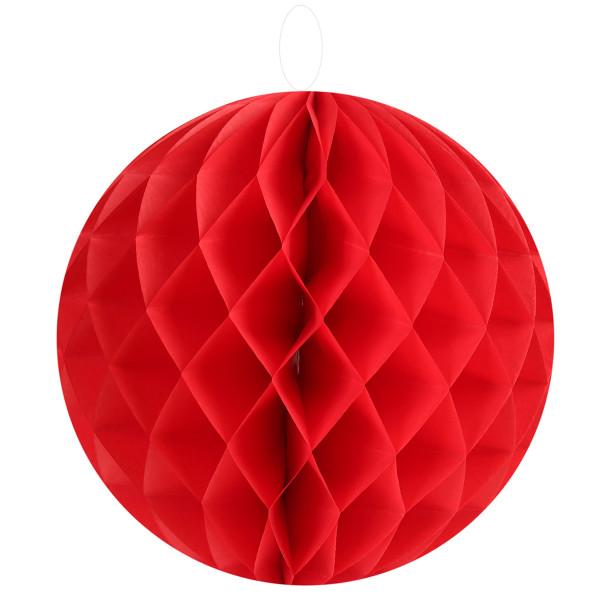 Honeycombs / Wabenbälle 30 cm (2 Stück) - rot