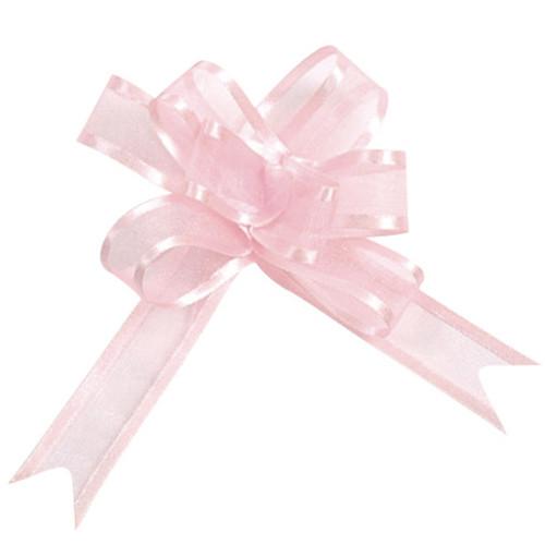 Organzaschleife / Automatikschleife 'Maxi' (5 Stück) - rosa