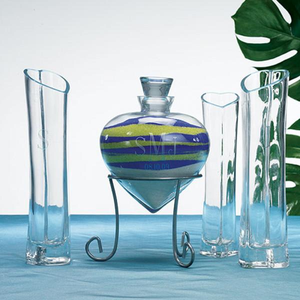 Vasen-Set 'Herz' für Sandzeremonie