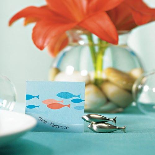 Tischkartenhalter 'Fische' (1 Stück)