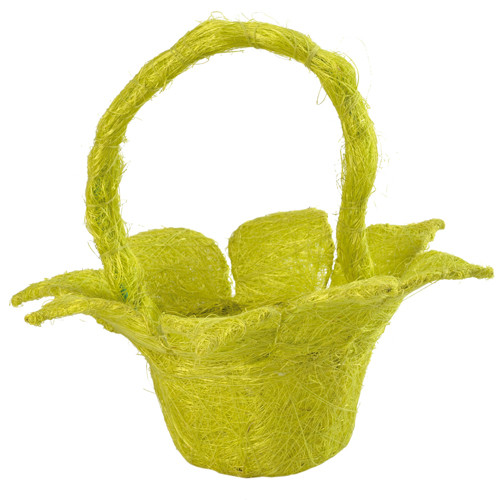 Streukörbchen 'Blume' Sisal - hellgrün