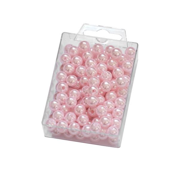 Dekoperlen zum Fädeln Rosa 10 mm 115 Stück