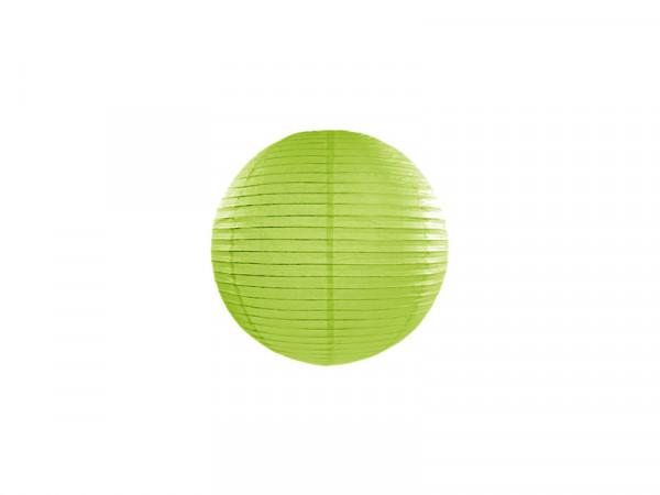 Laterne / Lampion rund 20 cm hellgrün