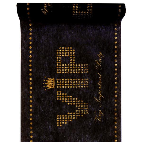 Tischläufer VIP 30 cm x 5 m - schwarz & gold