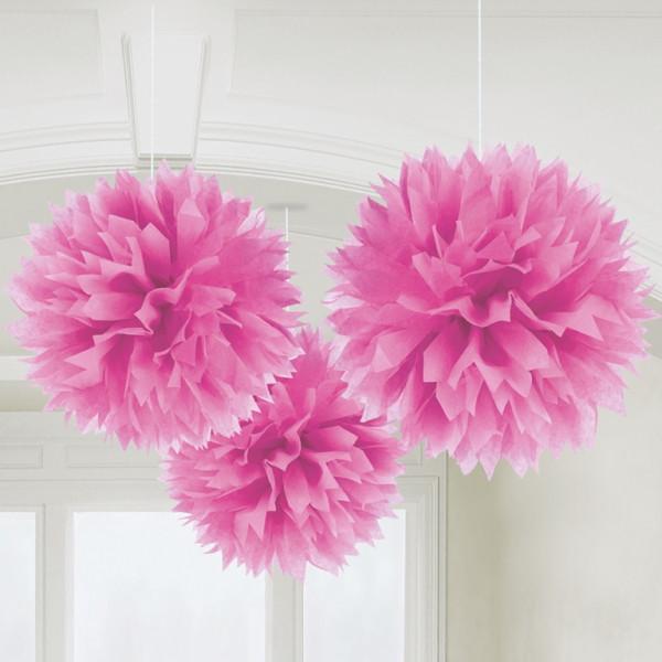 Pompoms 40 cm (3 Stück) - pink