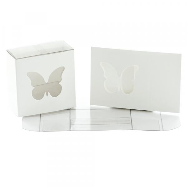 Kartonage Schmetterling - weiß