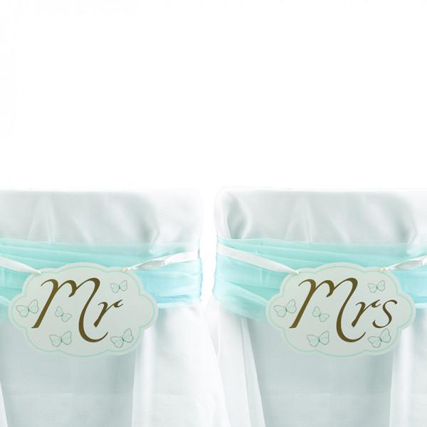 Stuhlschilder Schmetterling 'Mr & Mrs'
