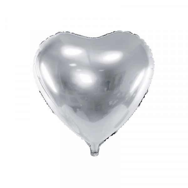 Folienballon Herz 45 cm - silber