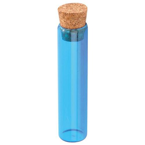 Reagenzglas / Glasröhrchen, türkis H 10 cm
