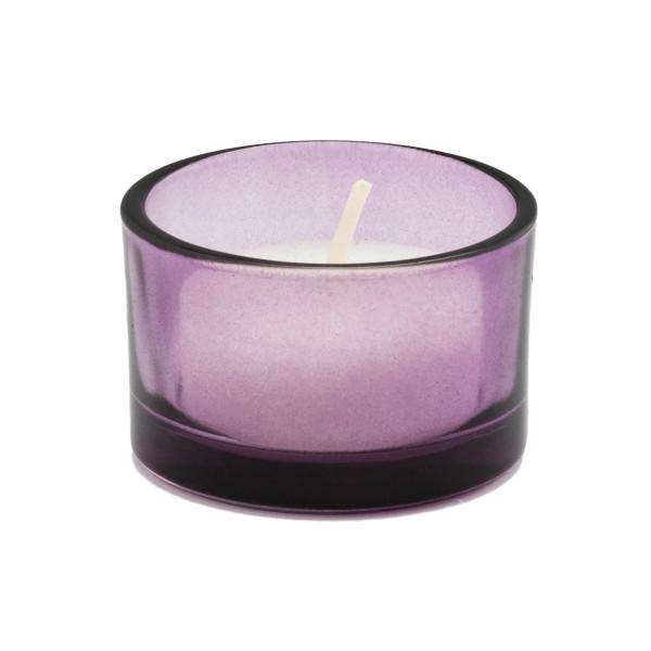 Teelicht / Kerzenhalter (6 Stück) - aubergine