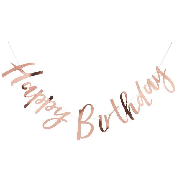 Girlande Happy Birthday - roségold