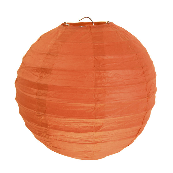 Laterne / Lampion rund 20 cm - orange (2 Stück)